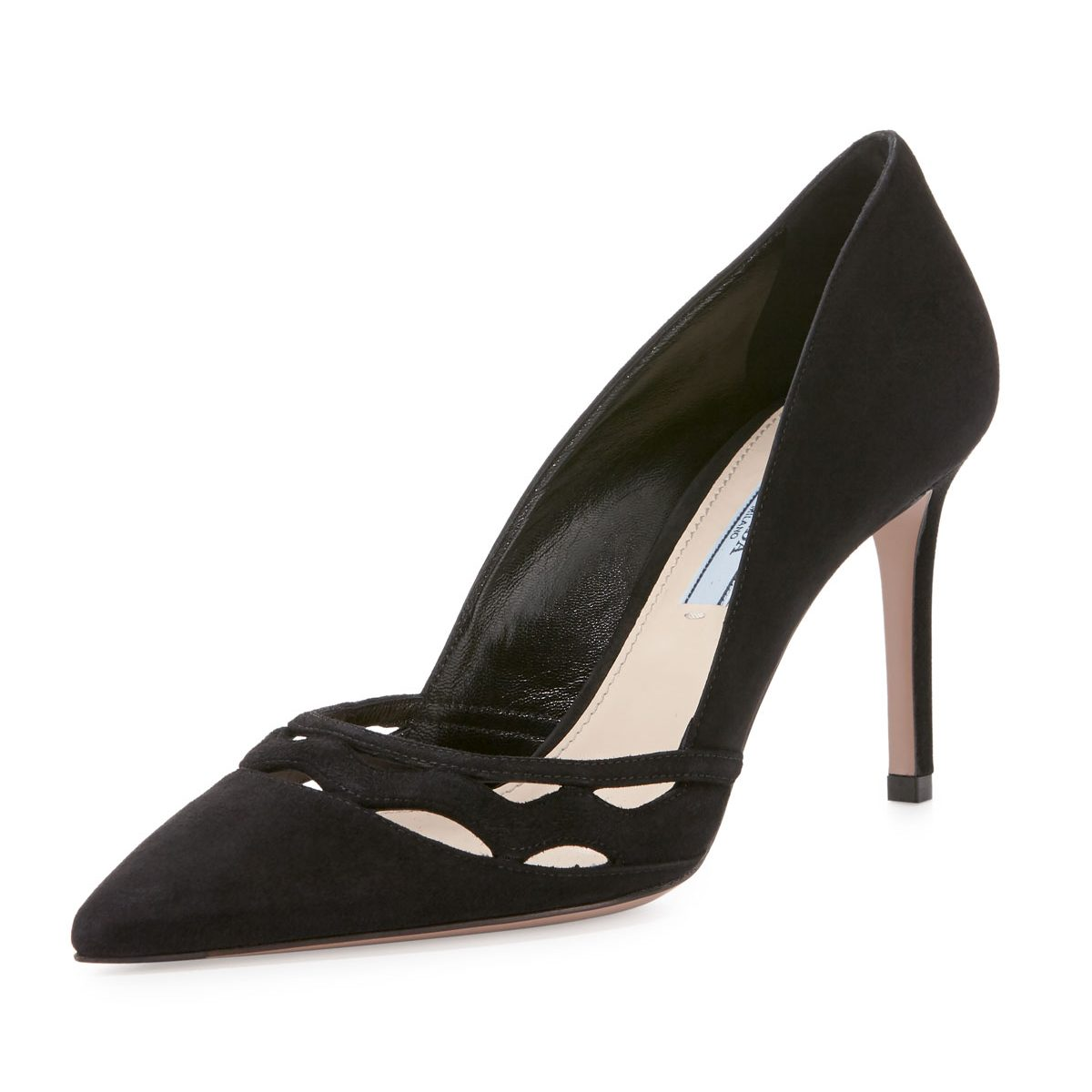Prada Wavy-cut Suede Pumps