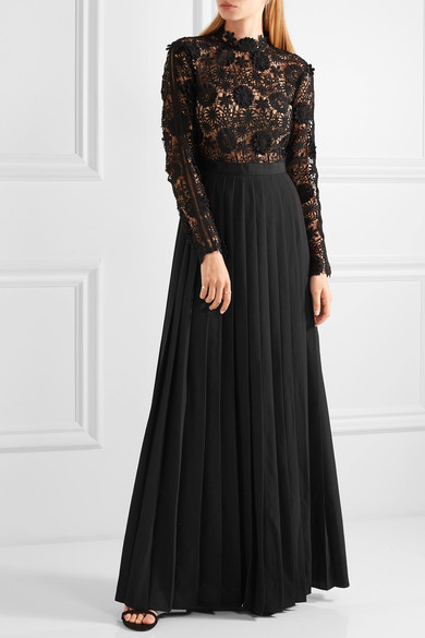 Self Portrait Lace Maxi Dress