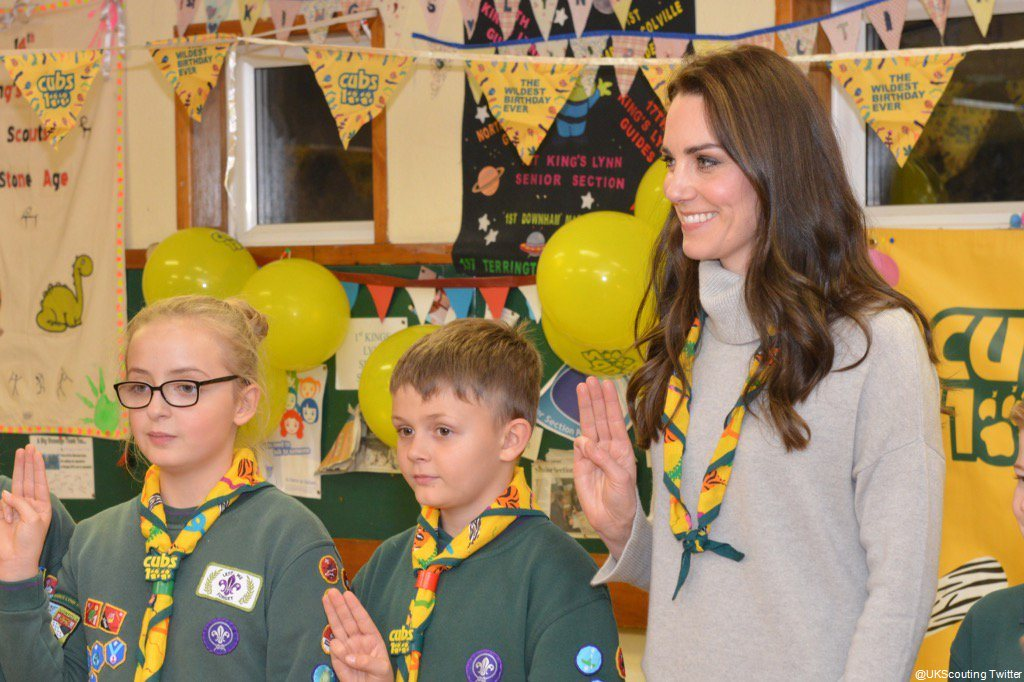 Kate MIddleton attends the Cubs100 birthday party in Norfolk