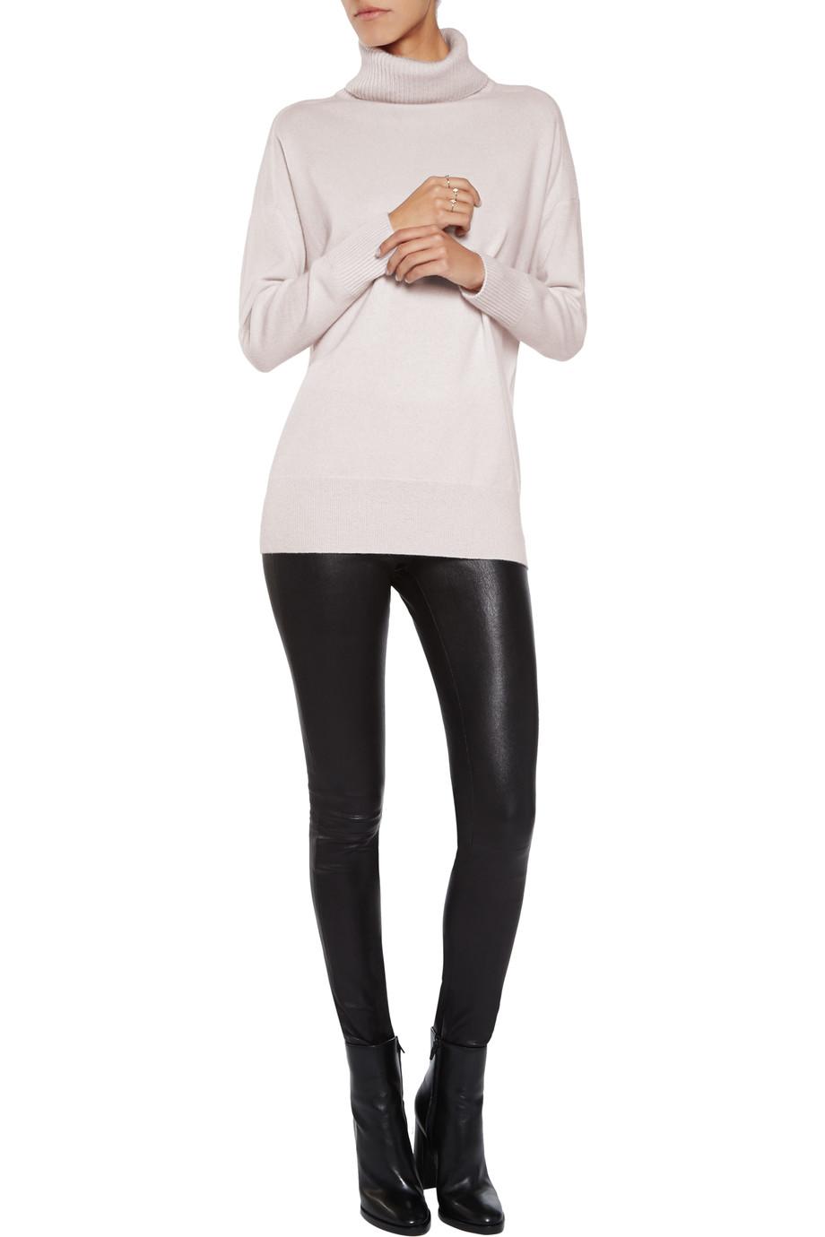 The Iris & Ink Grace Turtleneck Sweater in neutral