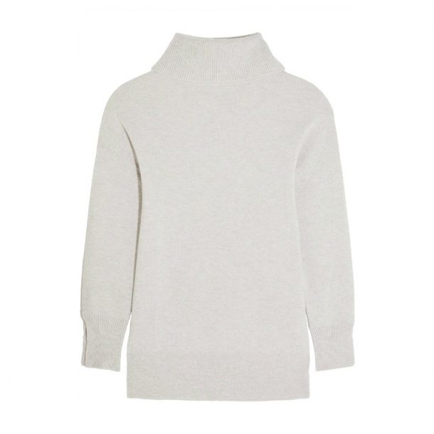 Iris & Ink Grey Cashmere Turtleneck Sweater