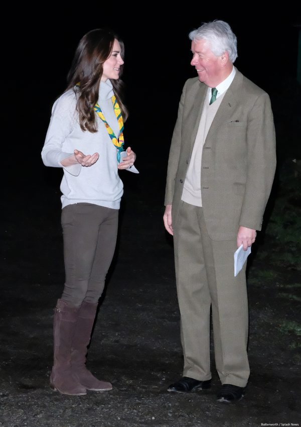 Kate keeps it casual for Cub Scout party in Norfolk