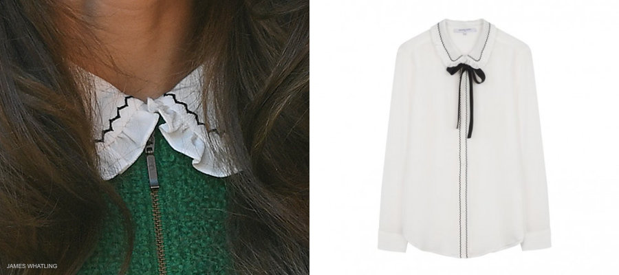 Kate Middleton's white and black blouse