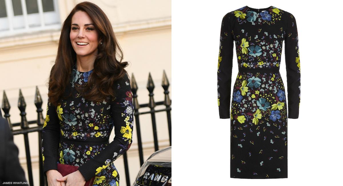 Erdem Evita Lilly Collage Dress Kate Middleton Style Blog