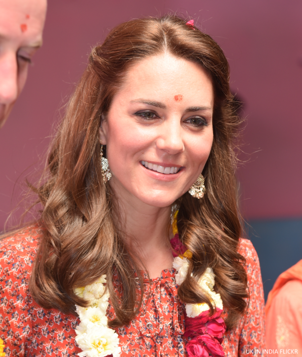 Kate Middleton wearing her Accessorize earrings