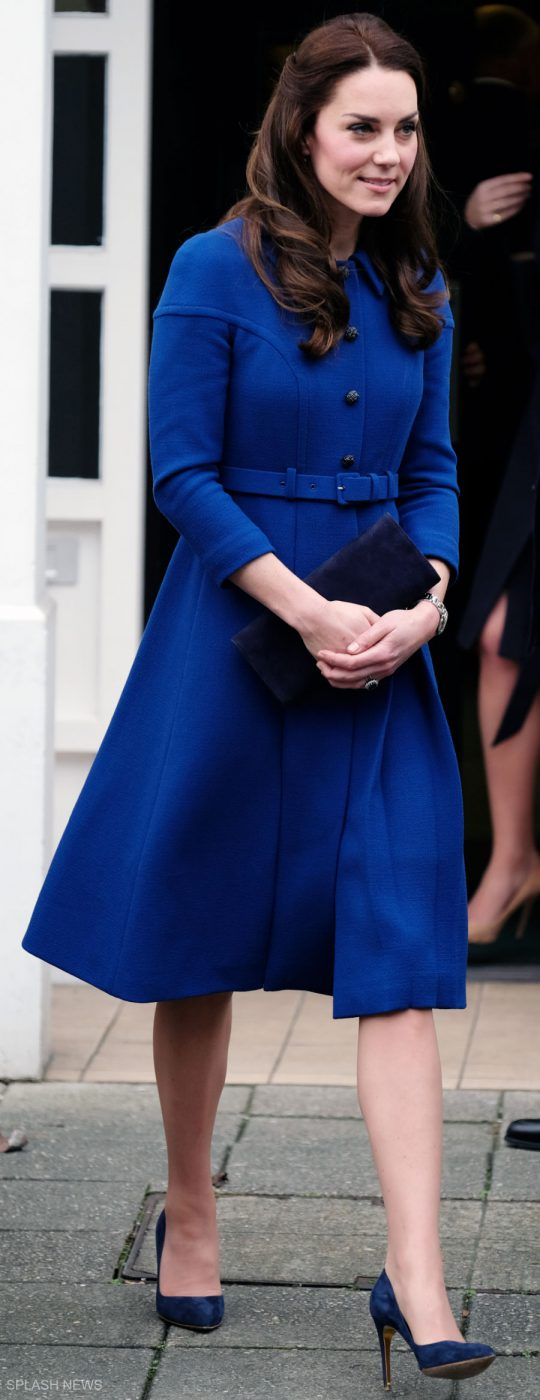 Eponine Blue Coat Dress Kate Middleton Style Blog