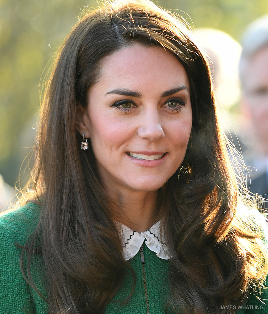 Kate Middleton wearing the white and black collar