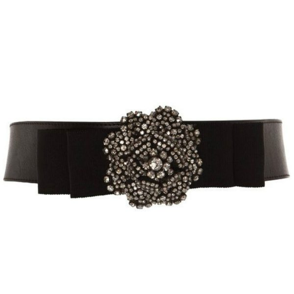 Temperley London Crystal Bow Belt