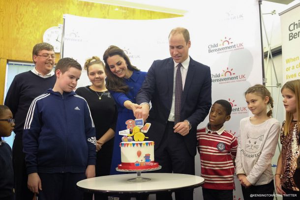 William and Kate visit Child Bereavement UK