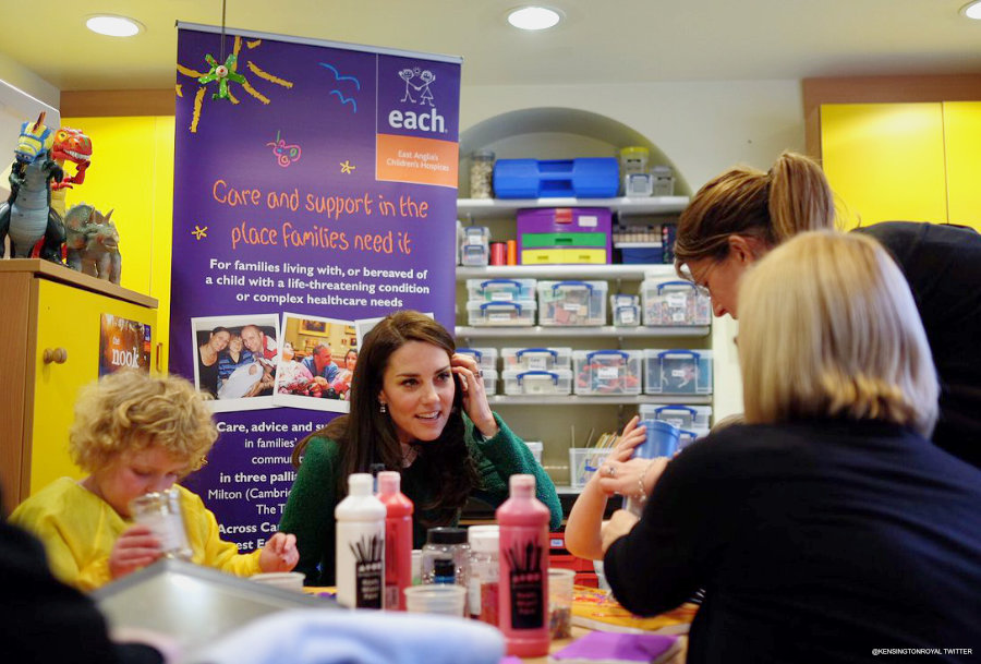 Kate Middleton visiting EACH Hospice in Quidenham