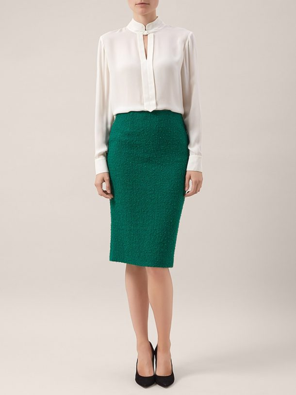 Hobbs Evergreen Sinead Skirt Suit in Green