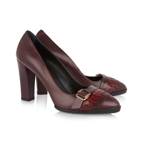 Kate Middleton's leather block heeled pumps by Tod's