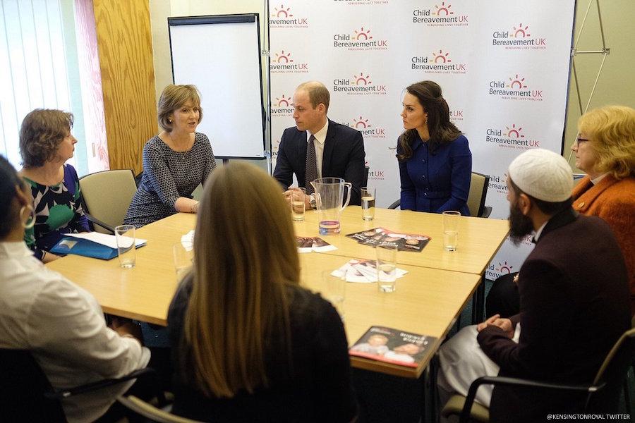William and Kate visit Child Bereavement UK
