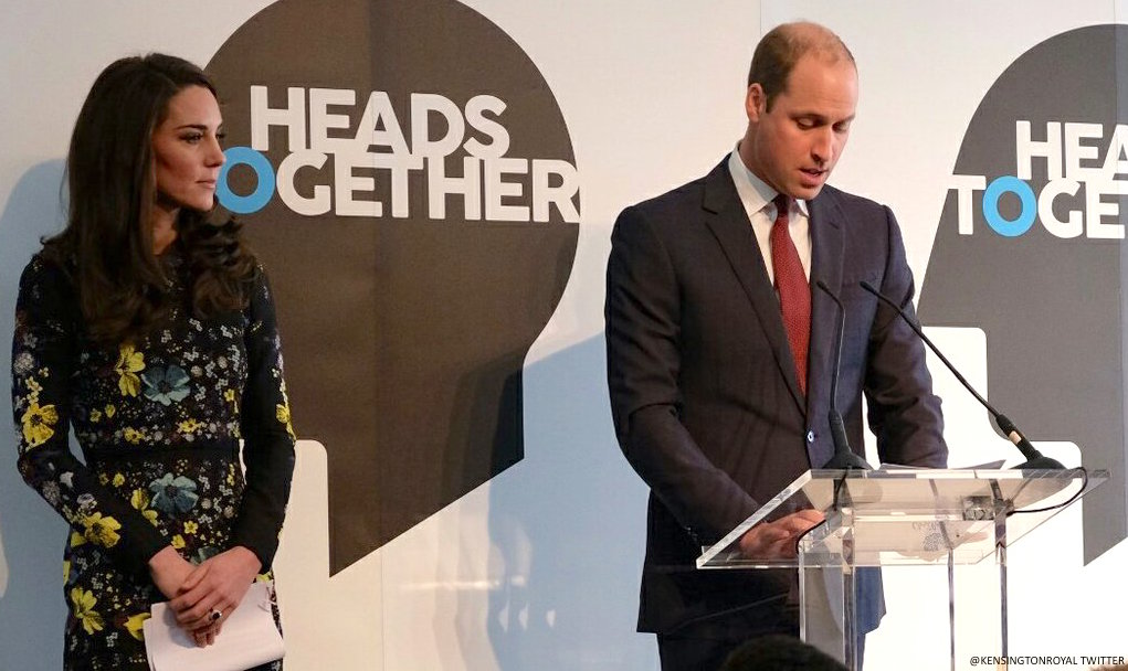 Both Kate and William deliver speeches at the Heads Together event