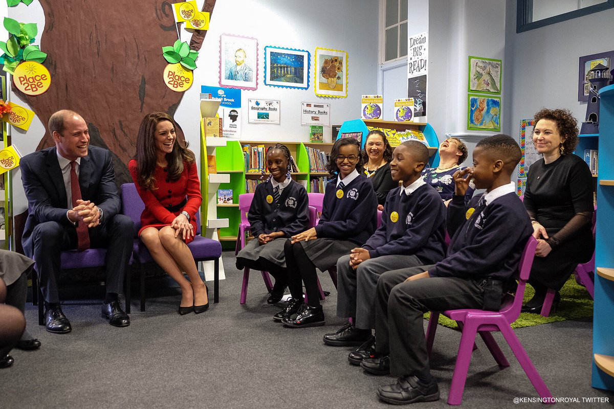 Kate Middleton and Prince William and the Place2Be Big Assembly for Children's Mental Health Week 2017