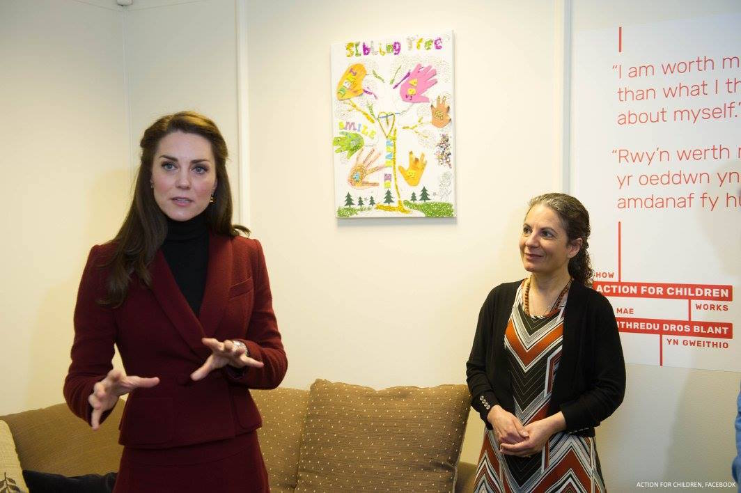 Kate Middleton tours Action for Children's MIST facility in Wales