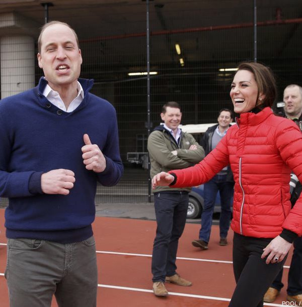 William, Kate and Harry attends a marathon training day