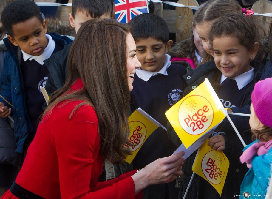 Kate Middleton attends the Place2Be Big Assembly for Children's Mental Health Week 2017