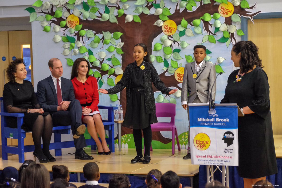 Place2Be Big Assembly to mark Children's Mental Health week with the Duke and Duchess of Cambridge