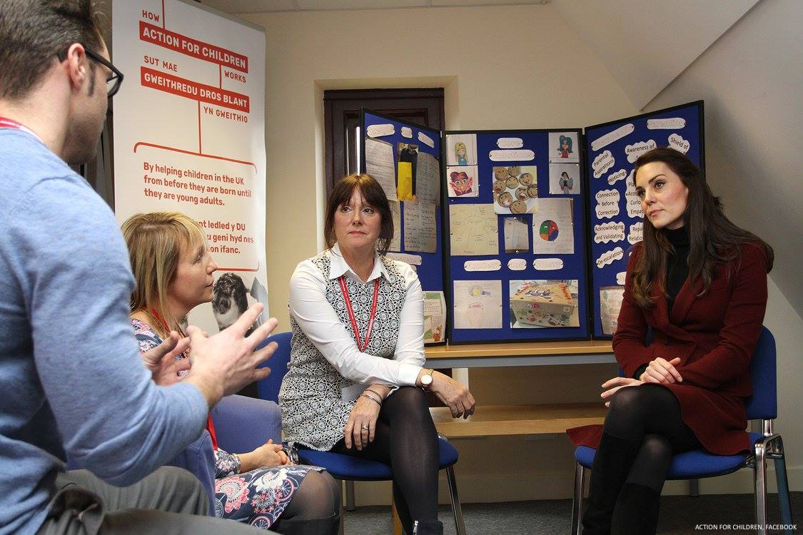 Kate Middleton visits Action for Children in Wales