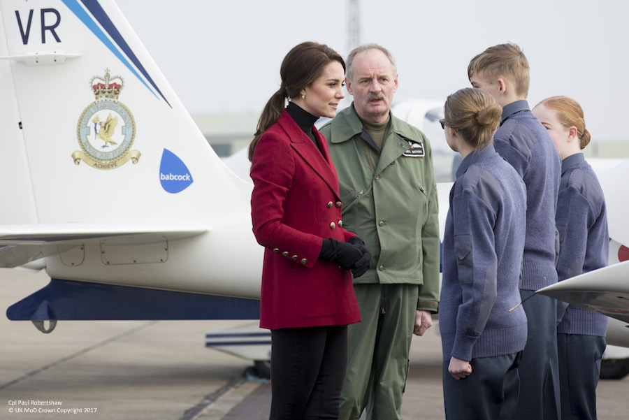HRH the Duchess of Cambridge visits Royal Air Force Wittering, in her capacity as Royal Patron to the Air Cadet Organisation (ACO). Bedfordshire and Cambridgeshire Wing ATC Skills Development Camp will be at RAF Wittering from 13 to 17 Feb 2017. Training at the camp focuses on the development of skills and qualifications across a wide range of cadet training.