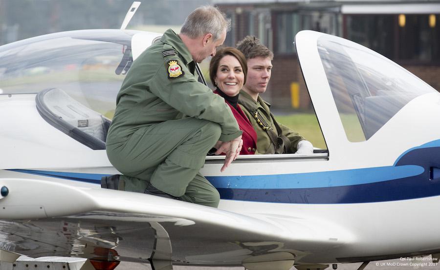 Duchess of Cambridge in a Tutor Plane