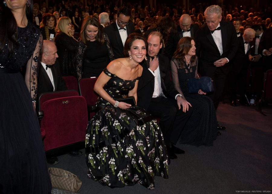 William and Kate watch the BAFTAs