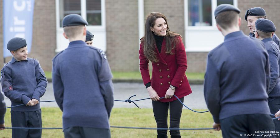 Kate Middleton at RAF Wittering