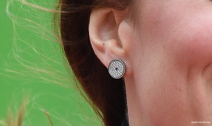Kate Middleton's Asprey Button earrings
