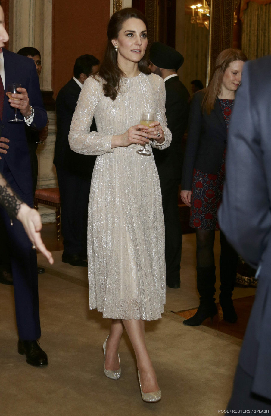 Britain's Prince William and Catherine the Duchess of Cambridge attend a reception to mark the launch of the UK-India Year of Culture 2017