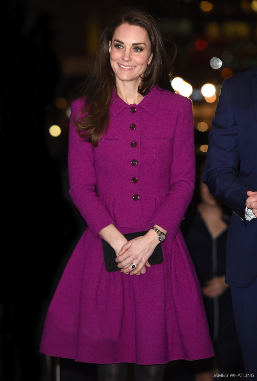 Kate Middleton wearing Oscar de la Renta