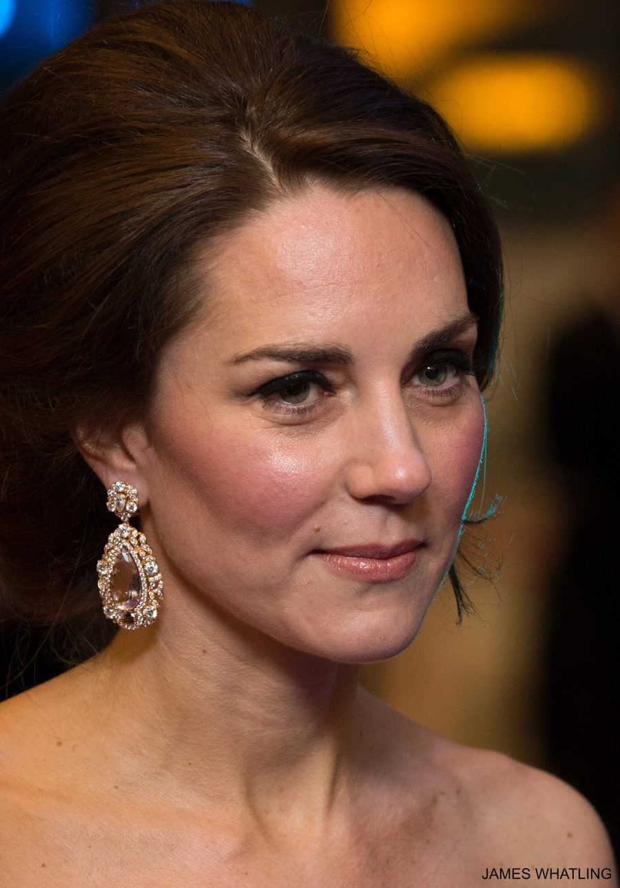The Duchess of Cambridge wearing the large earrings
