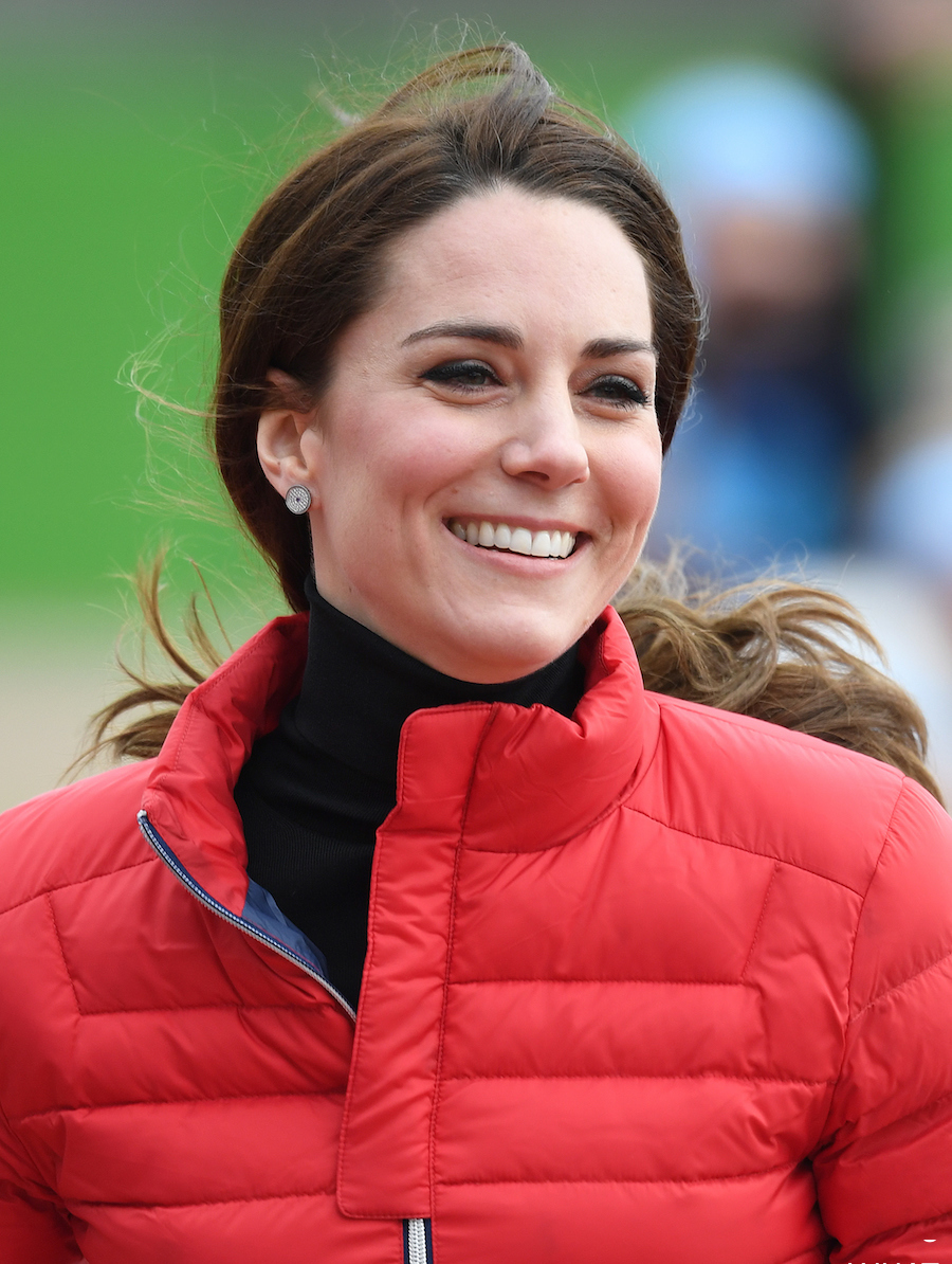 Kate Middleton Poloneck Red Padded Jacket