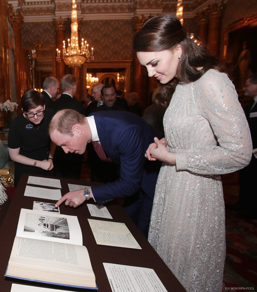 The Duke and Duchess of Cambridge attend a reception to mark the launch of the UK-India Year of Culture 2017 at Buckingham Palace, London, UK, on the 27th February 2017.