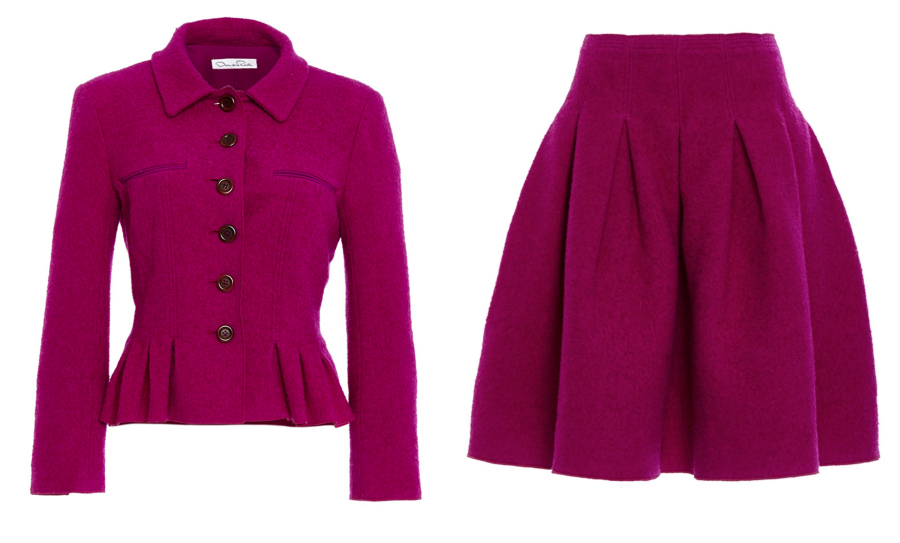 Oscar de la renta skirt and jacket suit