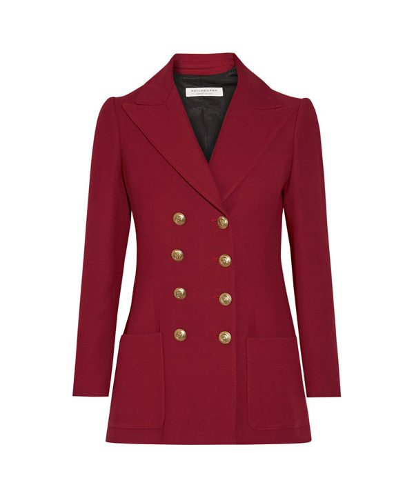 philosophy jacket in red
