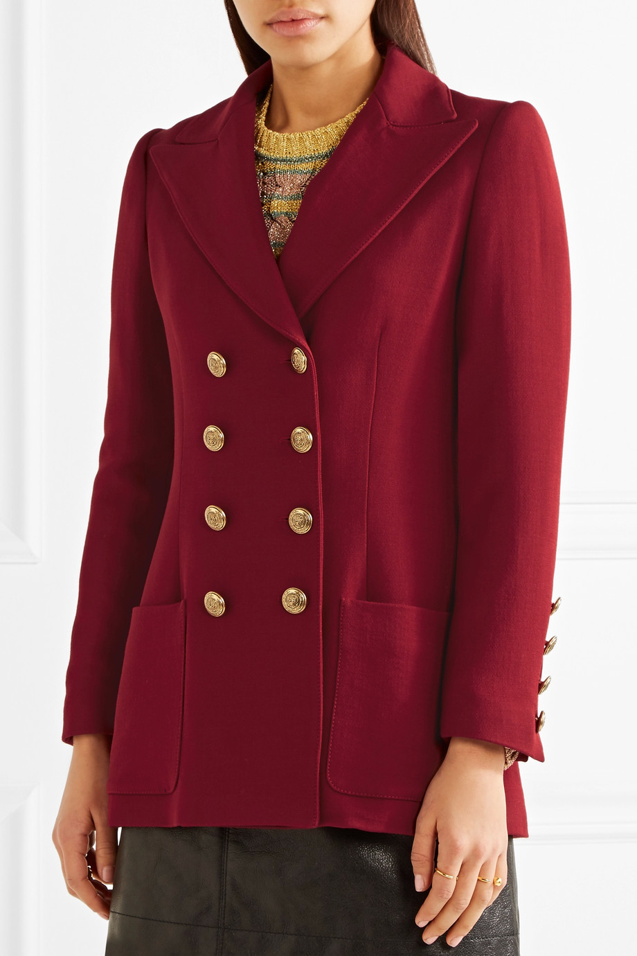 Philosophy di Lorenzo Serafini jacket in burgundy red