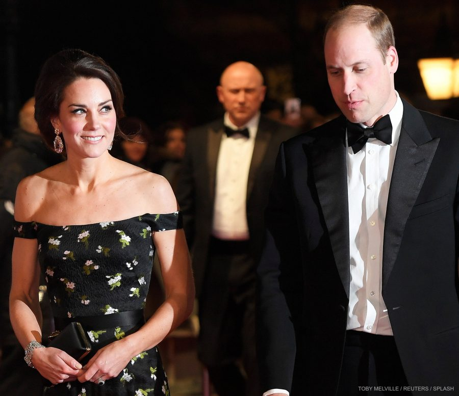 William and Kate on the red carpet at BAFTAS
