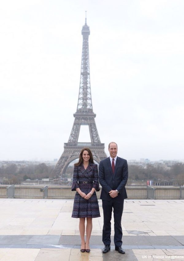 William and Kate in front of the Eiffel Tower