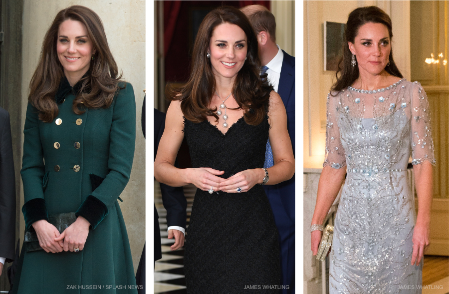 Kate Middleton's three outfits on day one of the Paris visit
