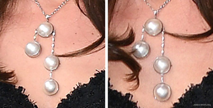Kate Middleton's necklace in Paris