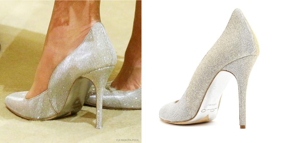 Kate Middleton's silver Oscar de la Renta shoes