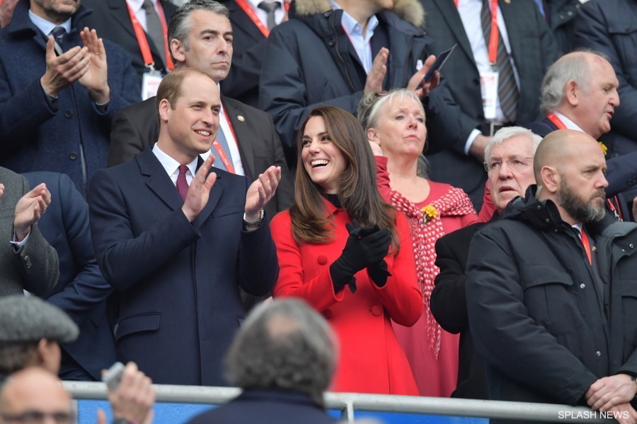 The Duke and Duchess of Cambridge watch the Wales vs France RBS Six Nations match at the Stade de France in Paris, France. This is His Royal Highness's first engagement as Patron of the Welsh Rugby Union since Her Majesty The Queen stepped down as its Patron in December 2016.