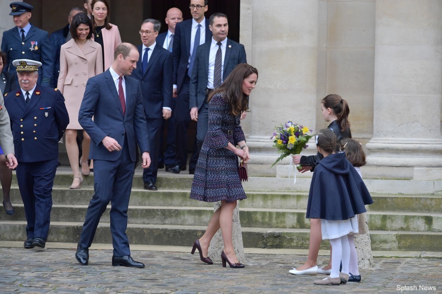 The Duke and Duchess of Cambridge visiting Les Invalides in Paris