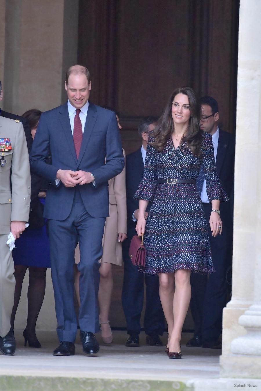 Kate Middleton wearing Chanel in Paris