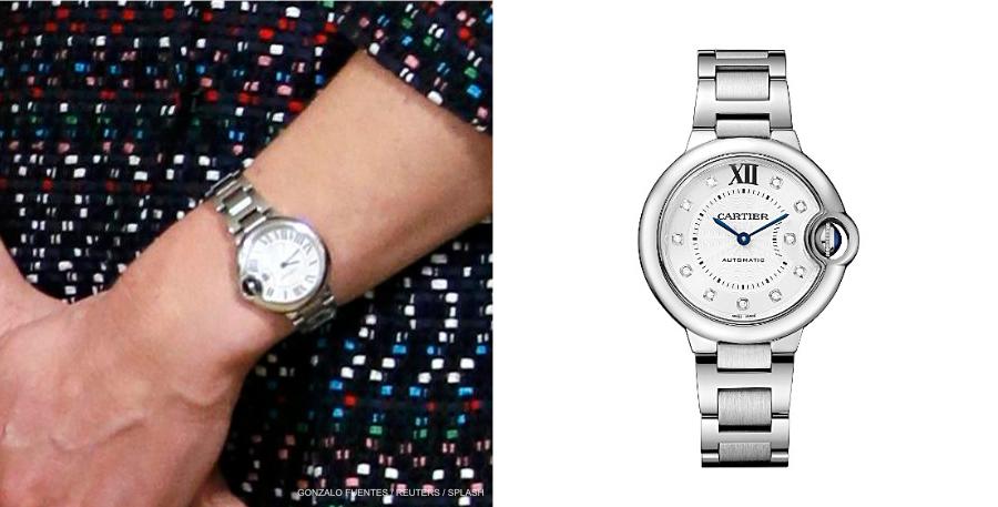Kate Middleton wearing her Cartier Ballon Bleu watch in Paris