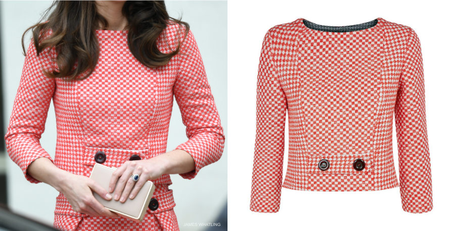 Kate Middleton pink eponine London jacket