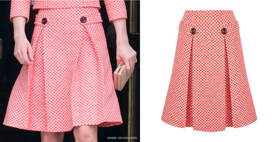 Kate Middleton wearing the pink Eponine London skirt