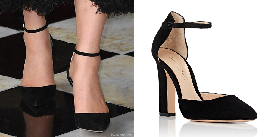 "GIANVITO ROSSI ""54"" Suede Mary Jane Pumps"