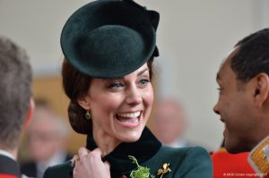 Kate in green Catherine Walker coat for annual St. Patrick's Day parade